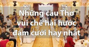 Những câu Thơ vui chế hài hước đám cưới hay nhất